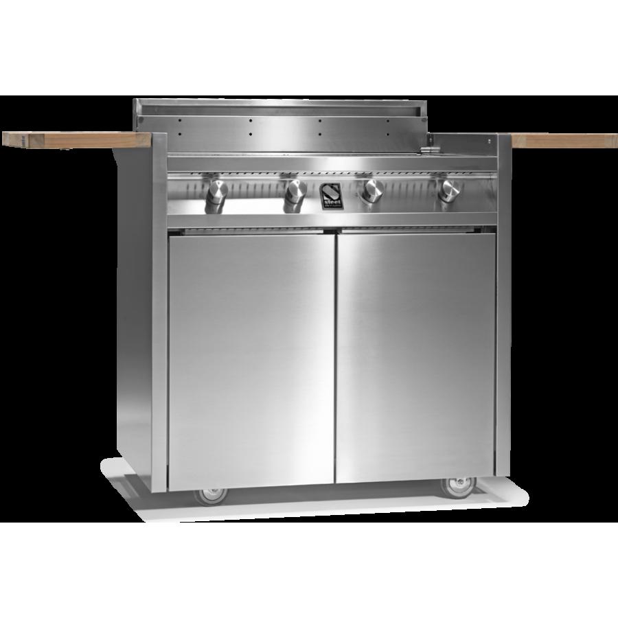 Steel barbecue da esterno for Lavastoviglie da esterno